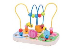 Дървена играчка лабиринт Цветна градина